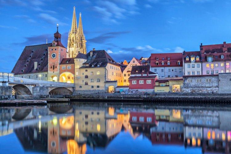 منظر رائع لمدينة ريغنسبورغ
