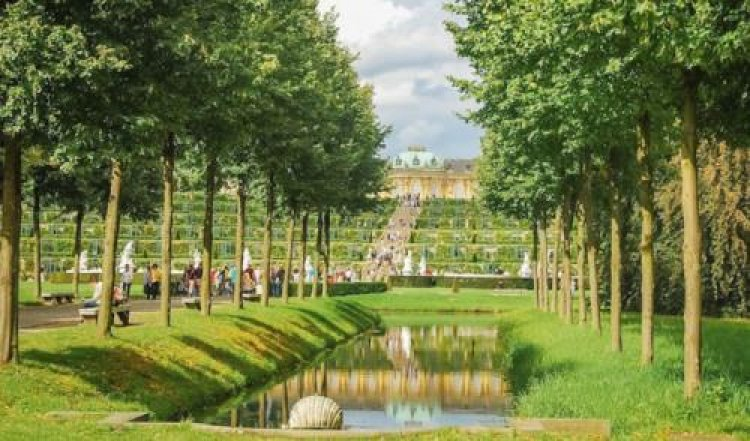جمال وروعة المنظر لحديقة قصر سانسوسي