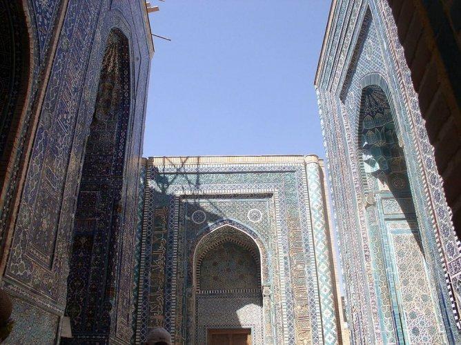 شاه زنده في سمرقند أوزبكستان