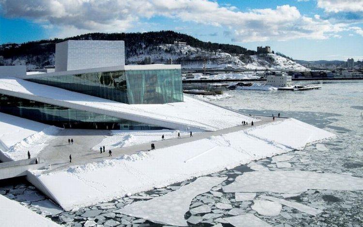 دار الأوبرا في أوسلو- النرويج