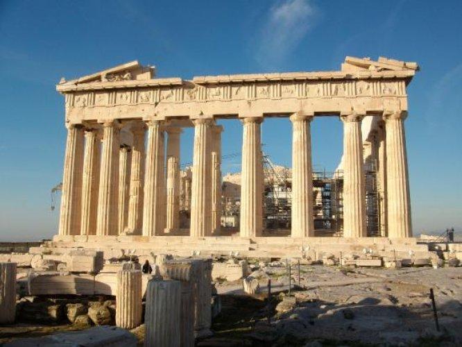 معبد البارثينون في أثينا - اليونان