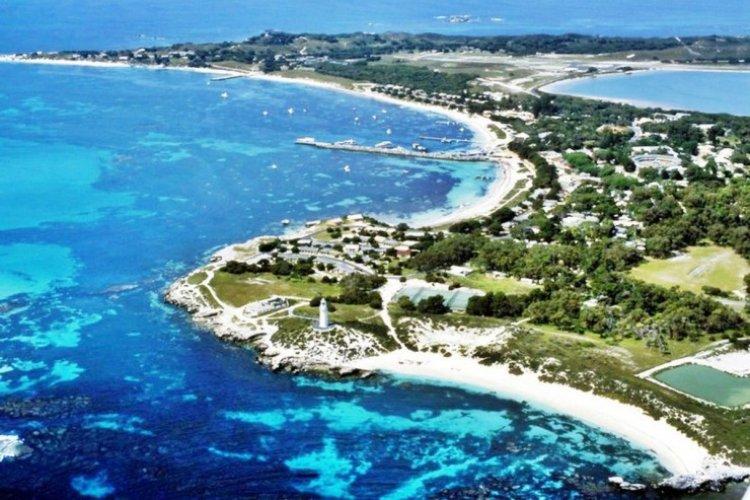 المنظر الرائع لجزيرة روتنيست