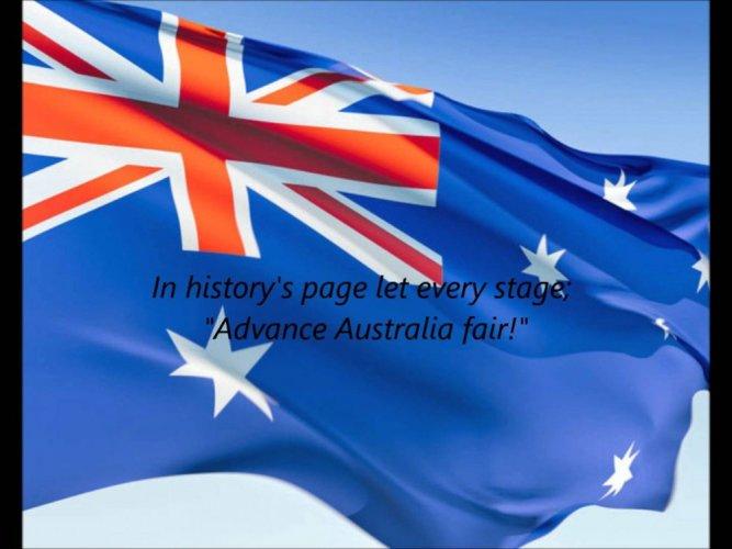 النشيد الوطني لاستراليا