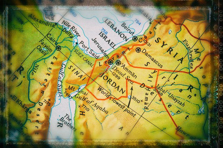 المدن والقرى الأردنية في خريطة الأردن