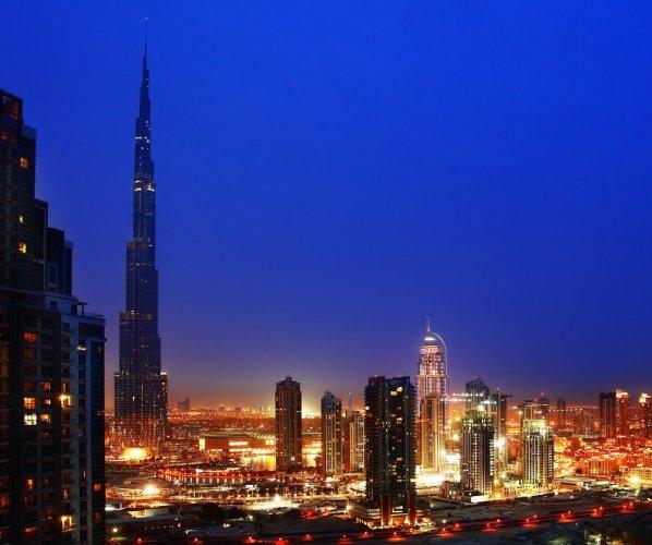 برج خليفة في الليل