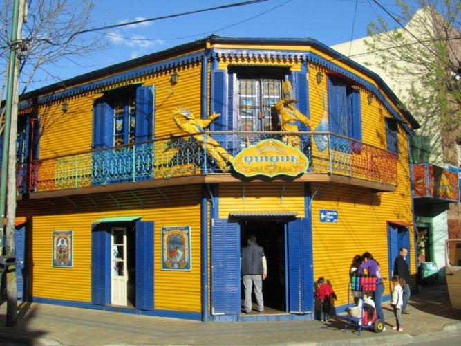 شكل المطاعم في حي لابوكا الأرجنتين بوينس آيرس