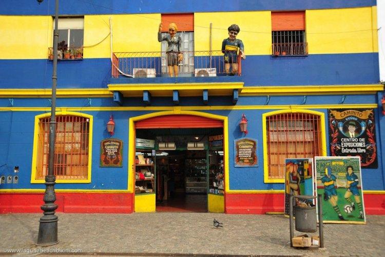المحلات التجارية في حي لابوكا بوينس آيرس
