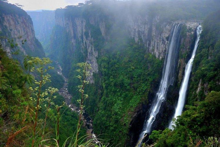 حديقة ابارادوس دا سيرا الوطنية وموقعها بين الغابات الساحلية والمراعي والغابات الرطبة
