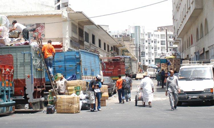 سوق درب عمر فى مدينة الدار البيضاء