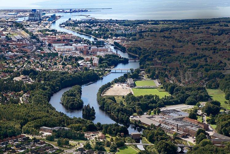 منظر رائع لمدينة هالمستاد