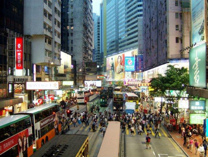 منطقة تسيم شا تسوي Tsim Sha Tsui في هونغ كونغ