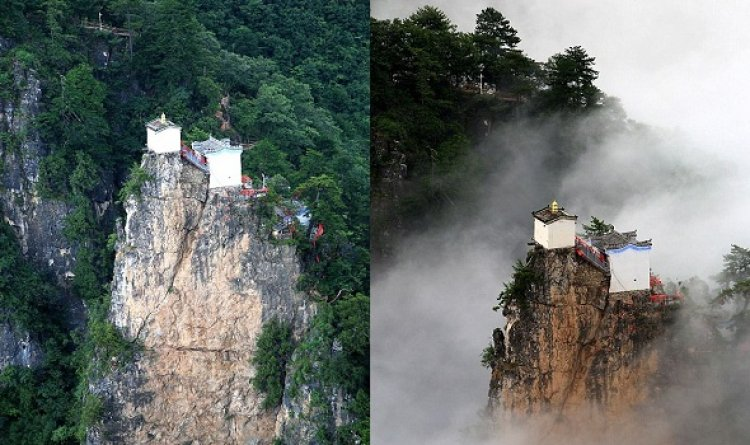 الجمال الخفي لمعبد الطاوية الذي يقع فوق قمة جبل تاون