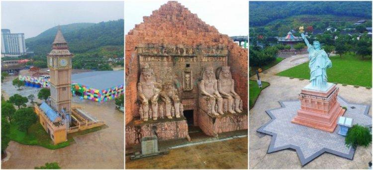 نماذج طبق الاصل من المعالم الشهيرة في حديقة نينغبو