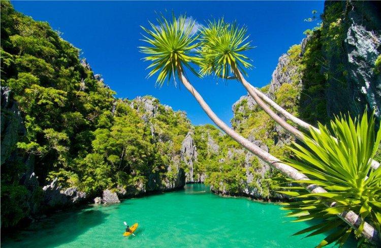 مناظر طبيعية خلابة وشواطئ سياحية جميلة في جزيرة بالاوان