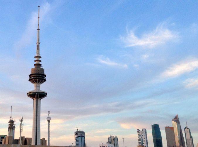 برج اتصالات في الكويت