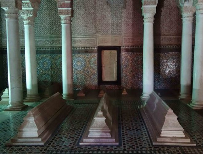ضريح السعديين في مراكش بالمغرب