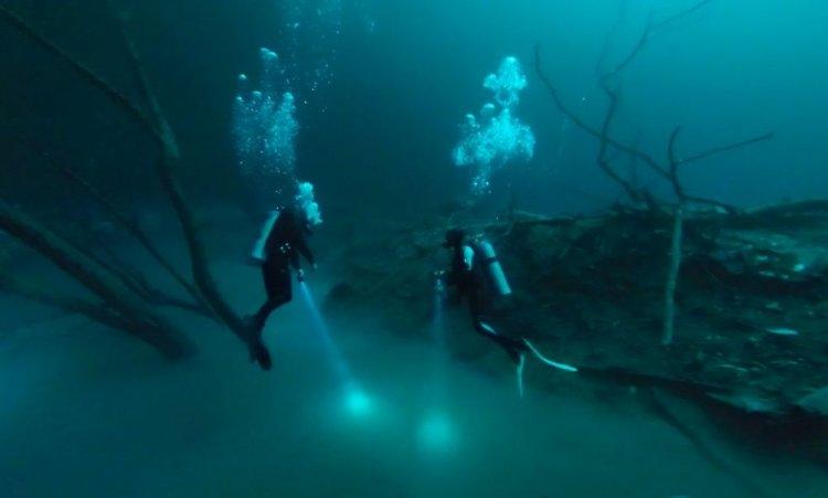 غواصين في نهر سينوتي انجيليتا