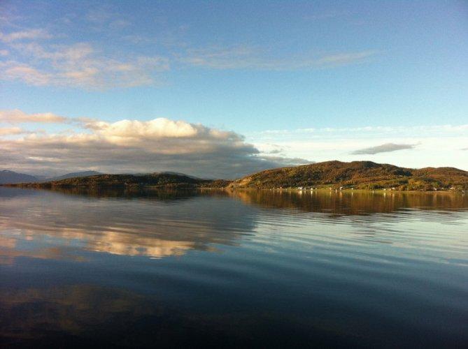 بحيرة فيرشتيفانت في ترومسو النرويج