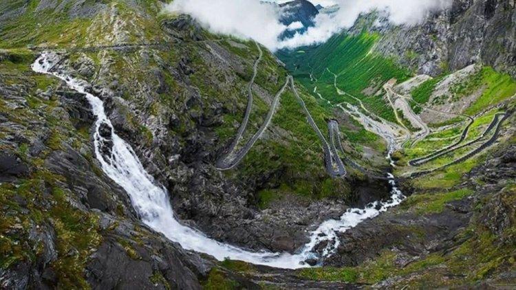طريق ترولستيجن في النرويج