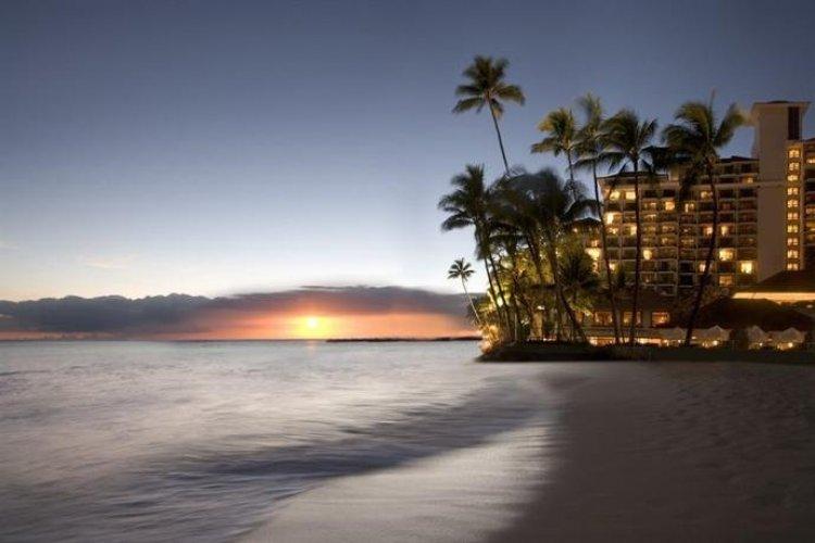الغروب بجزيرة هاواي
