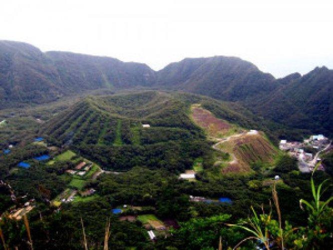 جزيرة اوجاشيما داخل البركان النشط