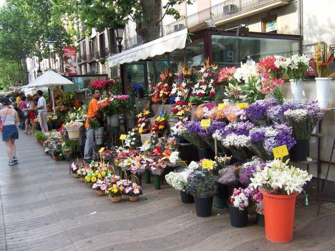 شارع لارامبلا في برشلونة