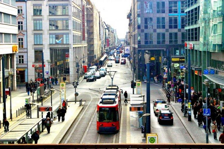 شارع كودام التجاري في برلين بألمانيا