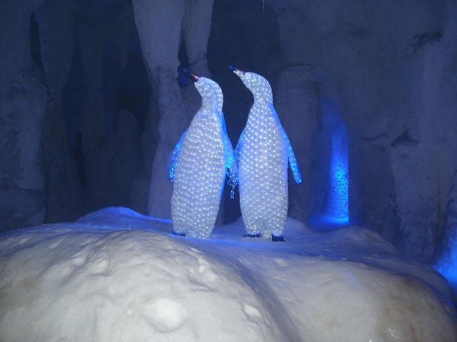 مجسم في متحف الثلج