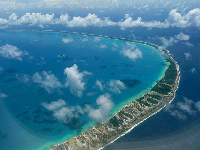 الشريط الساحلى لجزيرة فونافوتي