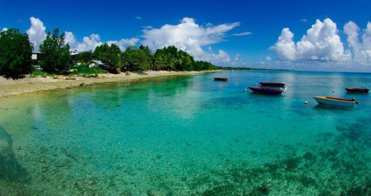 المياه الشفافية لجزيرة فونافوتى