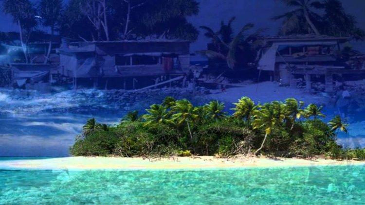 شاطئ جزيرة توفالو