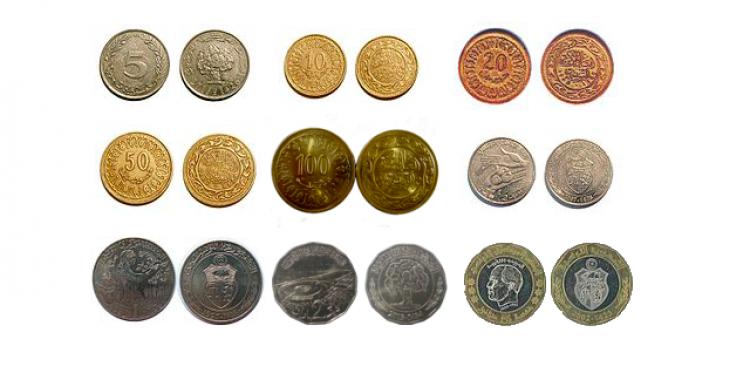 القطع النقدية الدينار التونسي