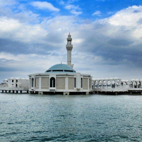 المسجدالعائمفي كورنيش جدة