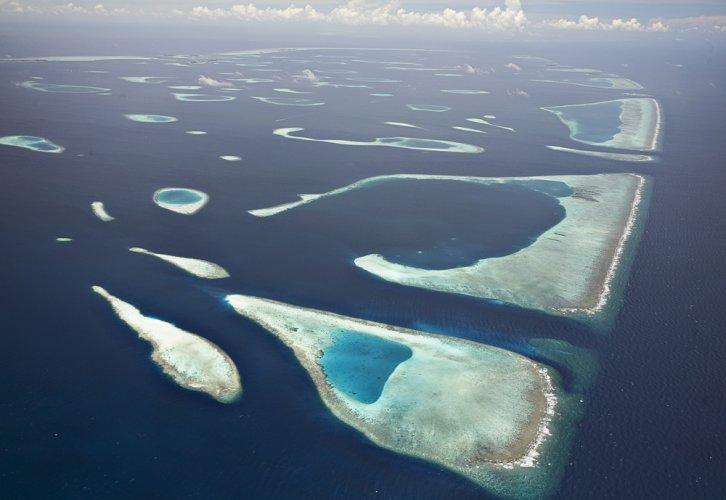 جزر المالديف من أعلى