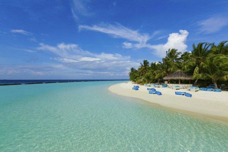 جمال الشاطئ بجزيرة فافو أتول