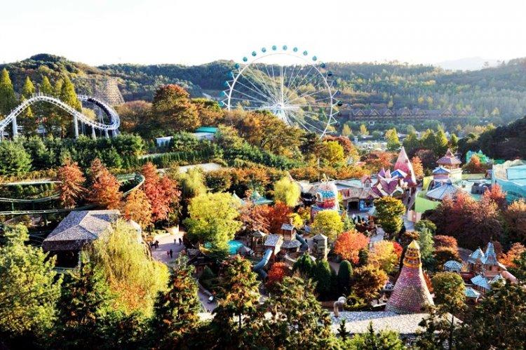 منتجع إيفرلاند حديقة ملاهي بيونغين في كوريا الجنوبية