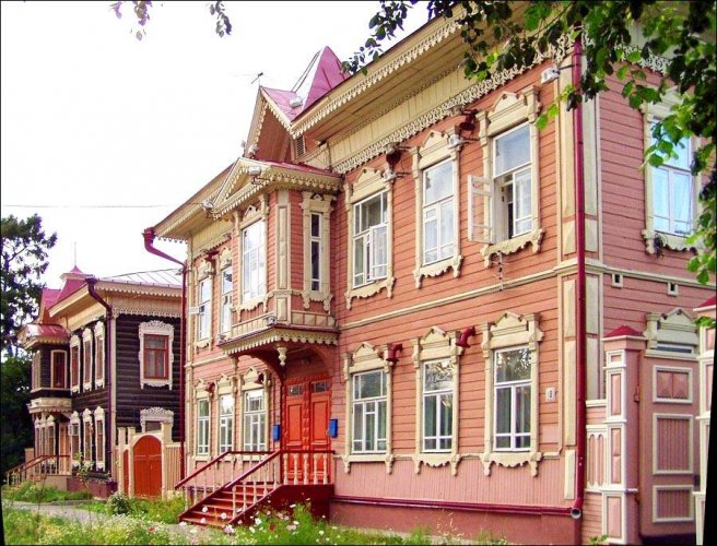المتحف الخشبي في مدينة تومسك روسيا