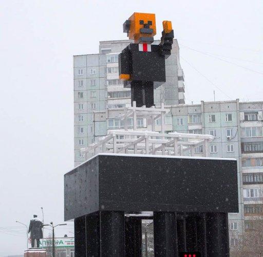 متحف لينين في مدينة كراسنويارسك روسيا