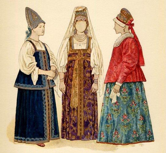 السرافان الزي للنساء الرسمي لروسيا