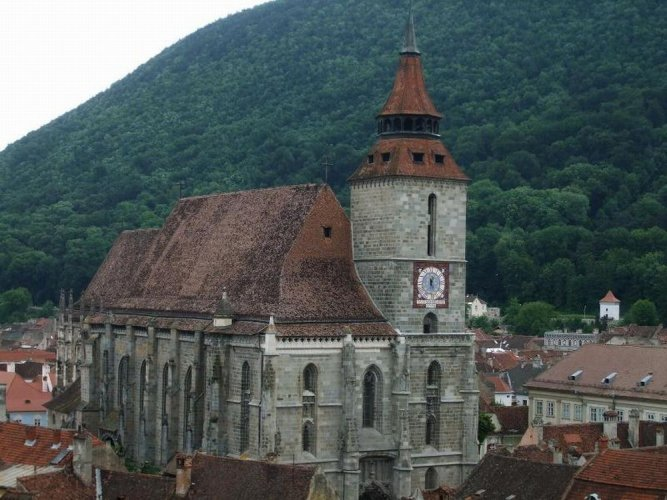 كنيسة سوداء في مدينة براشوف - رومانيا