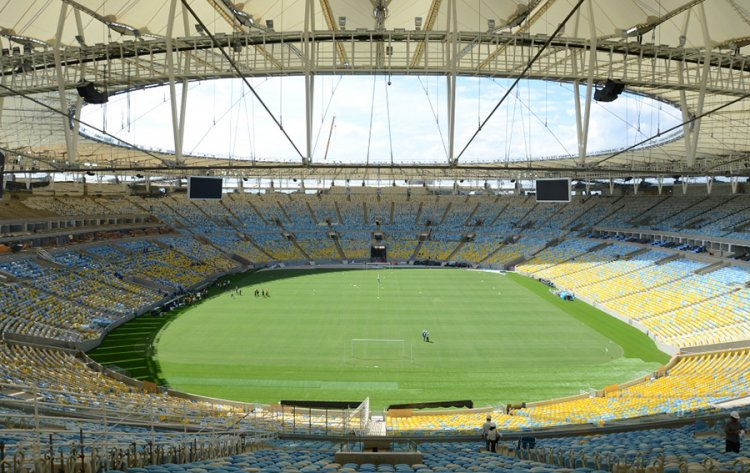 The Maracanã Stadium in Rio de Janeiro - Brazil