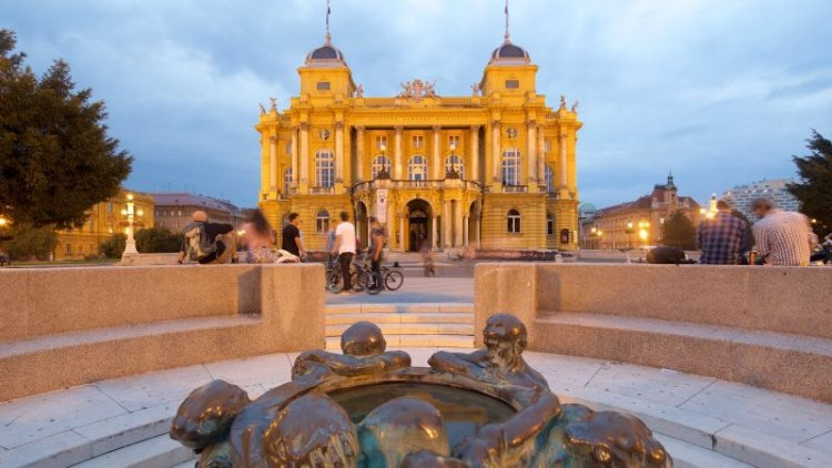 المسرح الوطني الكرواتي في مدينة زغرب