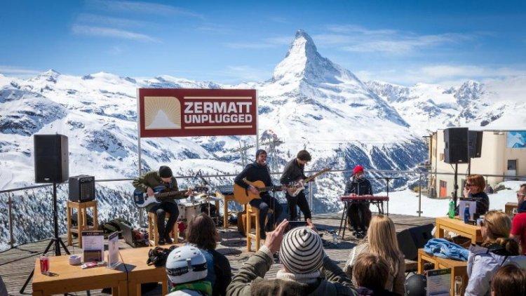 حفلات الموسيقى المقامة على جبل ماترهورن في زيرمات