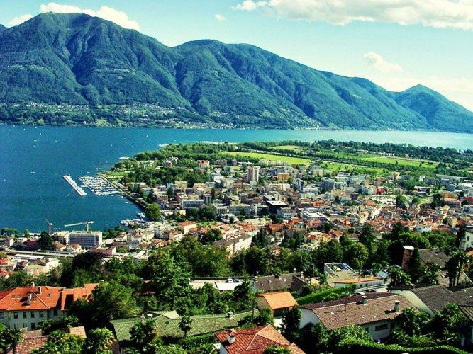 لوكارنو سيدة زهرة الكامليا في سويسرا