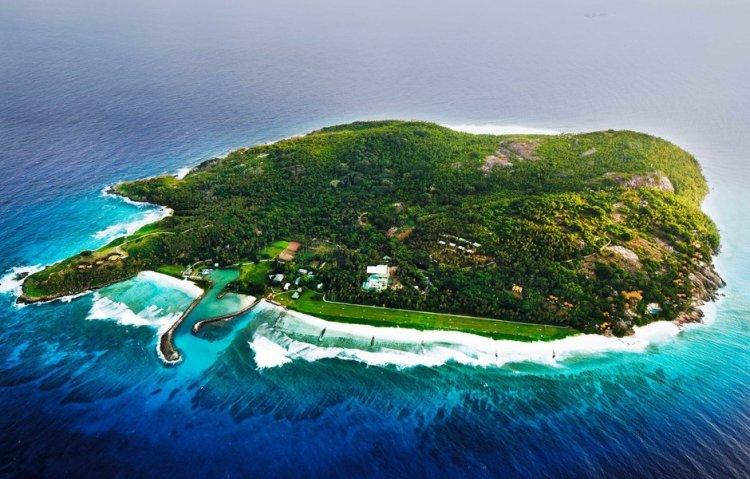 جزيرة فريجات من الاعلى