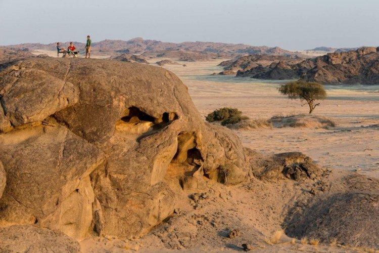 المناظر الطبيعية في ساحل الهياكل العظمية في ناميبيا