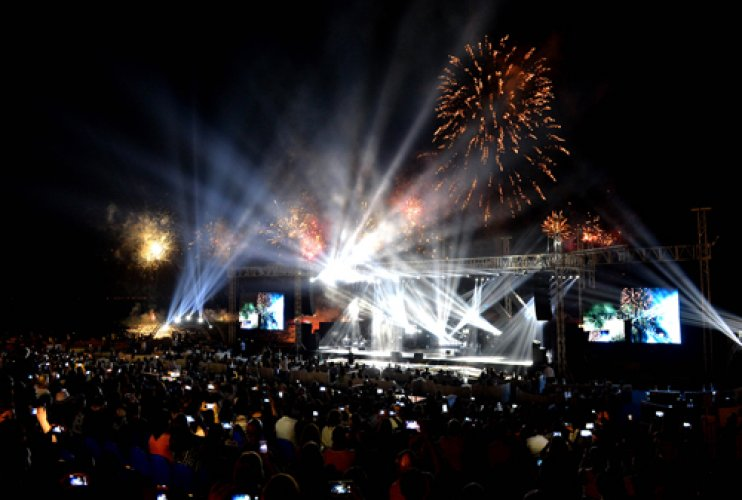 جمهور مهرجانات عمشيت