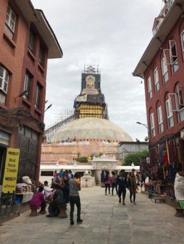 قبة ستوبا البوذية في كاتماندو - نيبال