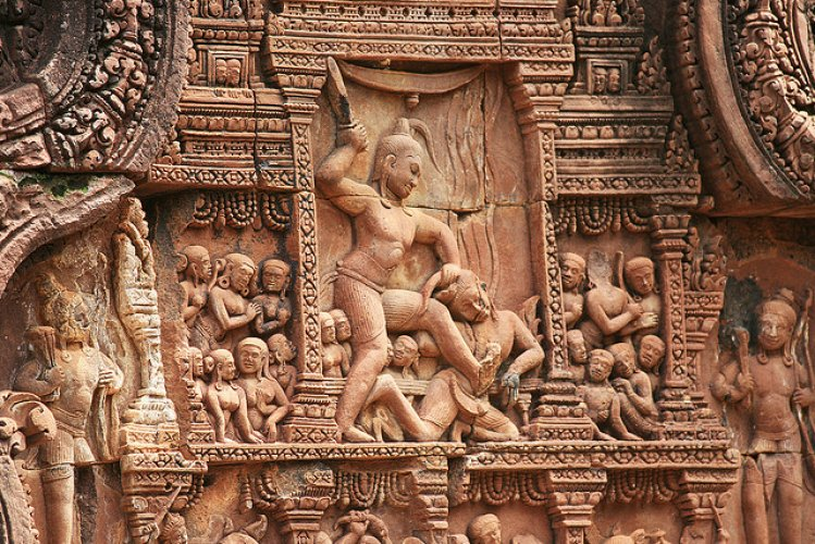 المعبد الكمبودي بانتي سري في كمبوديا