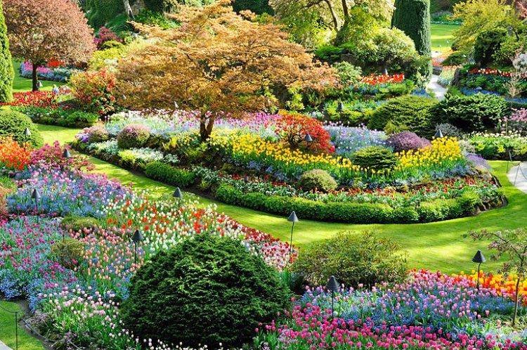 حدائق بوتشارت في مدينة فكتوريا كندا